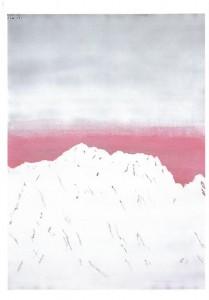 雪雲・夕・剣岳