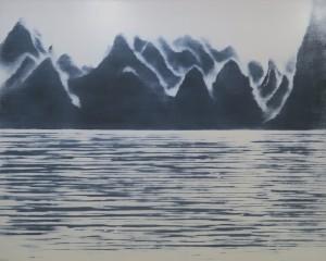 256桂林山水・霧・水上よりC